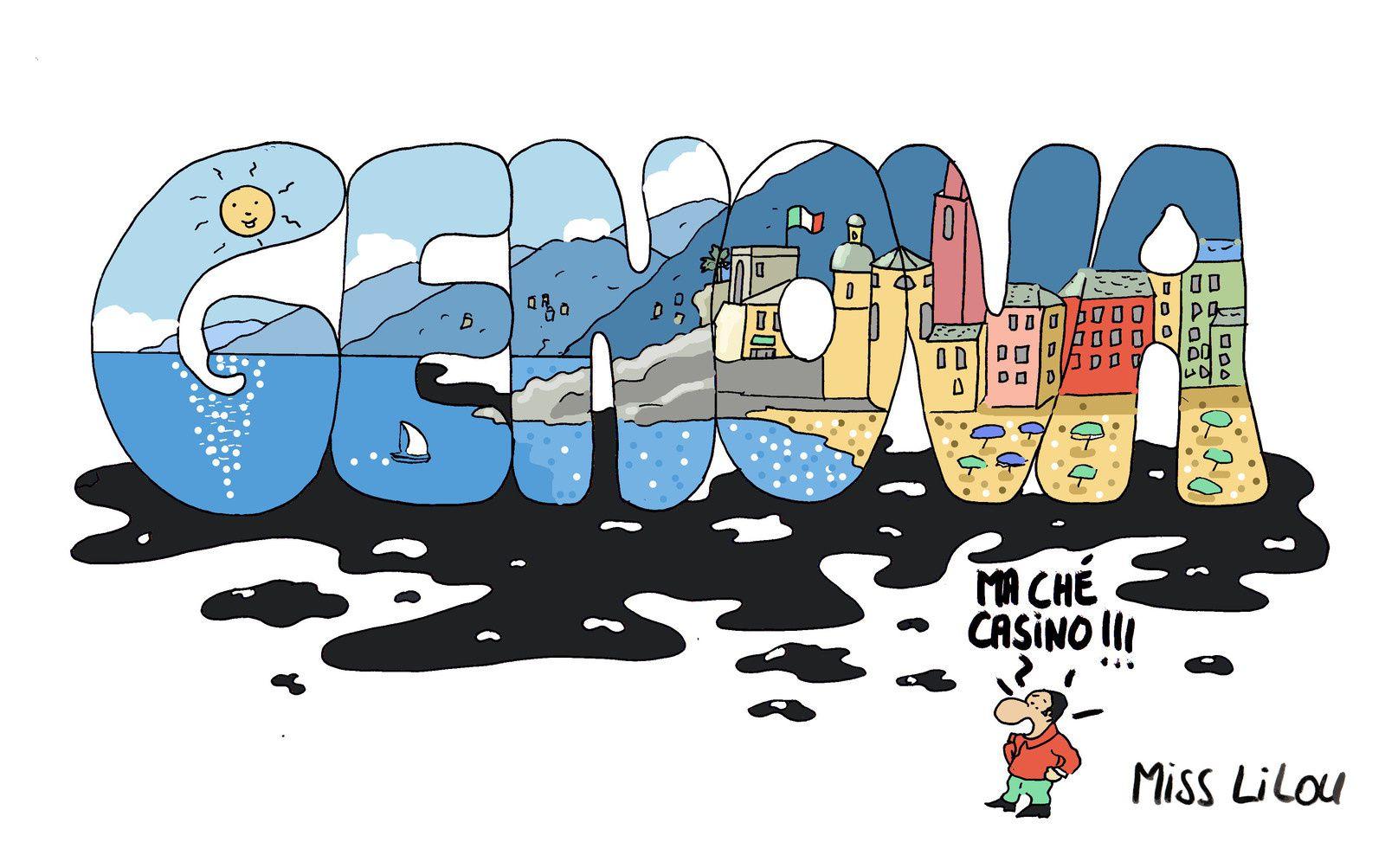 Menace de marée noire à Gênes ?
