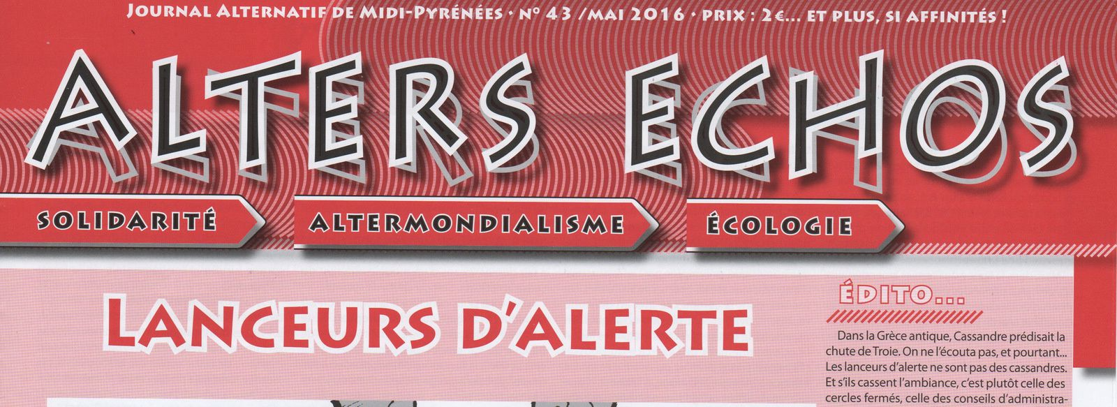ALTERS ECHOS : journal alternatif de Midi-Pyrénées