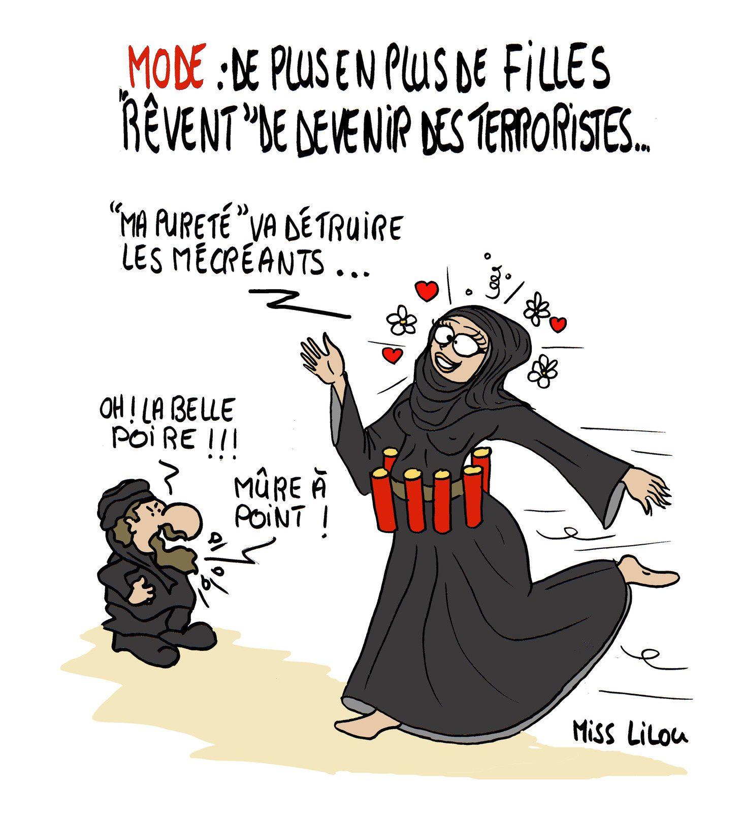 MODE : de plus en plus de filles &quot&#x3B;rêvent&quot&#x3B; de devenir des terroristes !