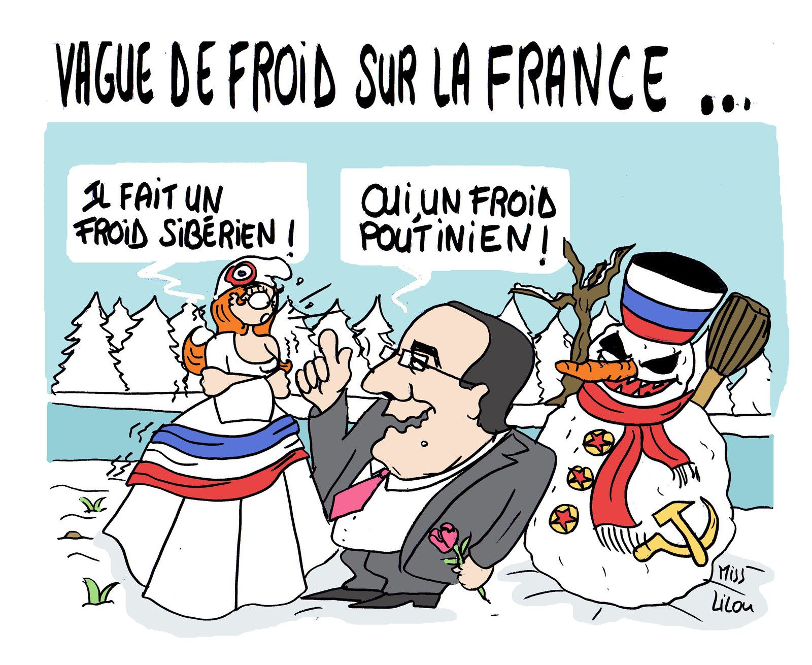 Vague de froid sur la France...