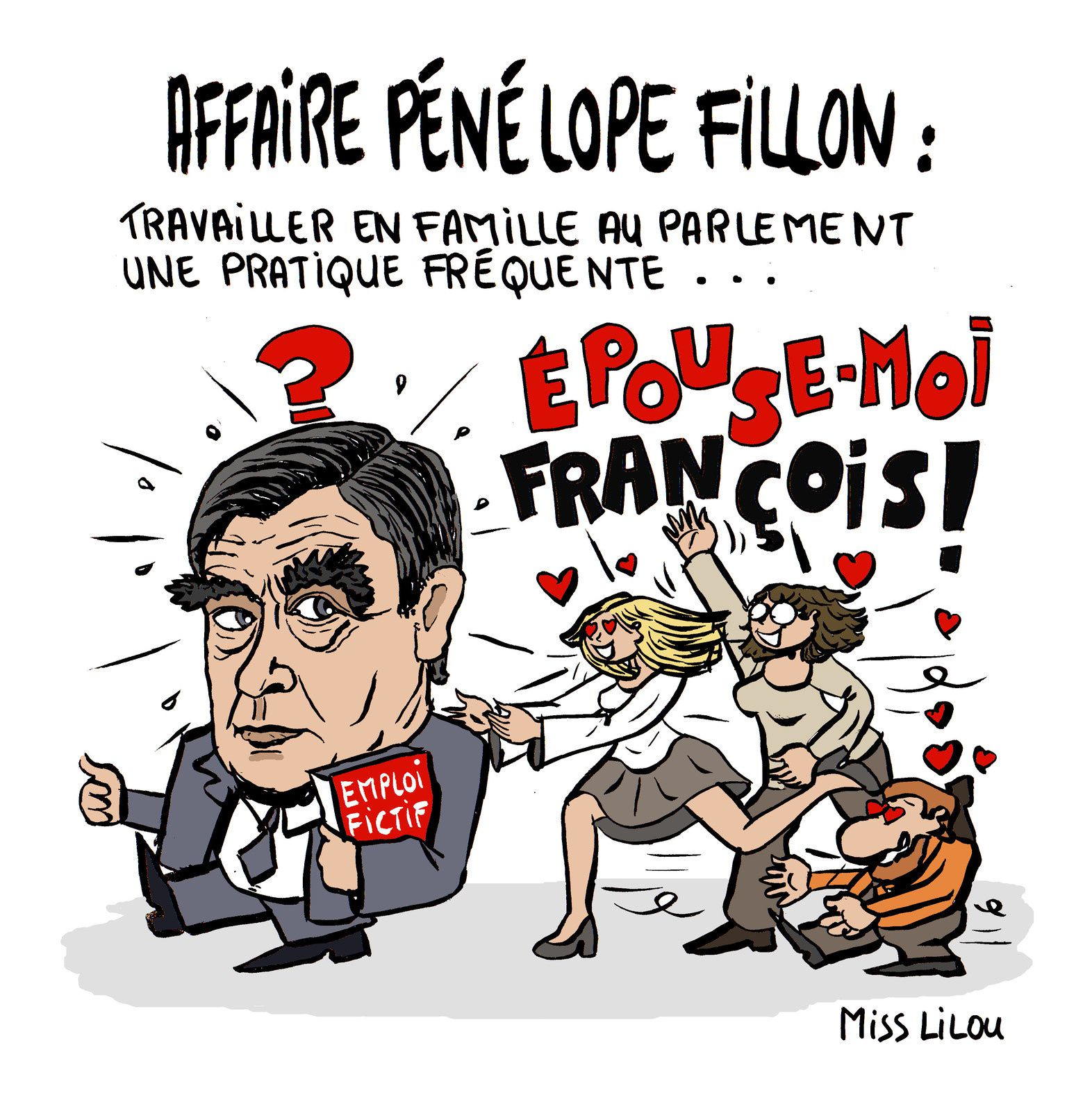 Affaire Pénélope Fillon : Travailler en famille au parlement une pratique fréquente...