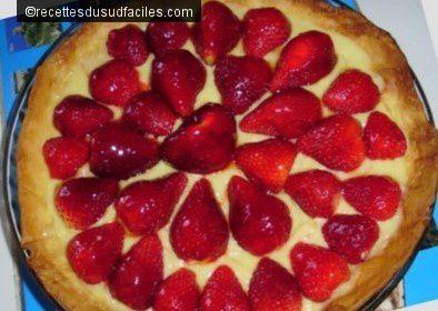 #Tarte aux fraises #Tarte #Fraises #Desserts #Recettes #Recettes du Sud #Recettes faciles