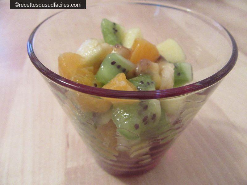 #Salade de fruits d'hiver #Pommes #Kiwis #Bananes #Mandarines