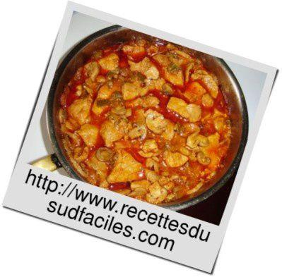 #Sauté de porc aux poivrons #Sauté #Porc #Poivrons #Viande #Recettes #Recettes du Sud #Recettes faciles