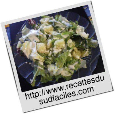 #Salade de pommes de terre sauce yaourt #Salade #Pommes de terre #Sauce yaourt #Entrées, salades - sandwiches #Recettes #Recettes du Sud #Recettes faciles