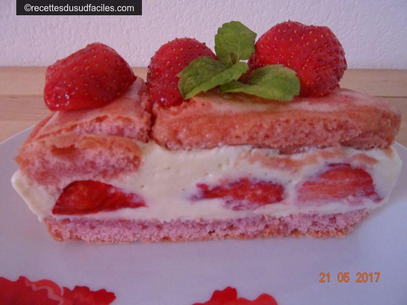 #Fraisier #Fraisier express #Fraises #Biscuits #Boudoirs #Desserts #Desserts aux fruits #Recettes #Recettes du Sud #Recettes faciles