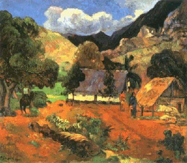 Paysage avec trois personnes - P.Gauguin
