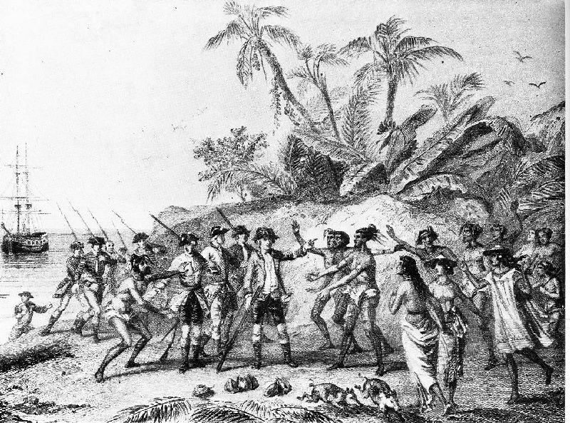 Débarquement de Bougainville à Hitiaa