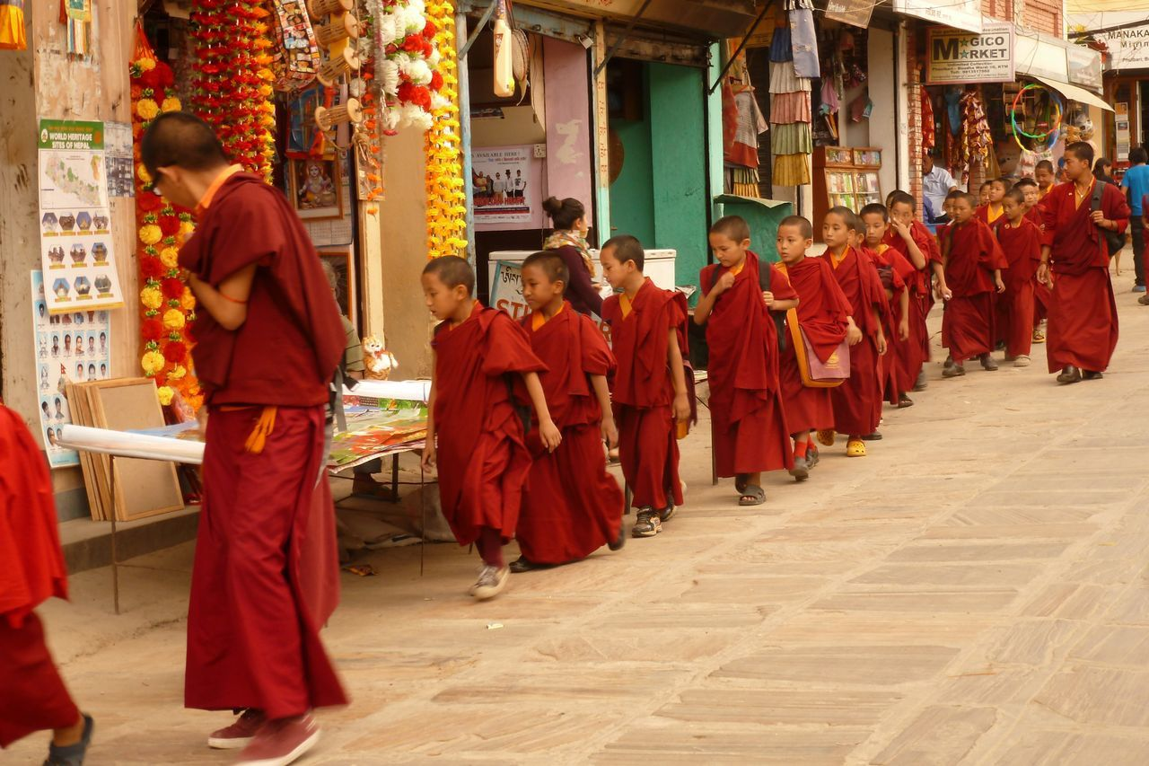 Retour à Katmandou :  quartier de Bothnath