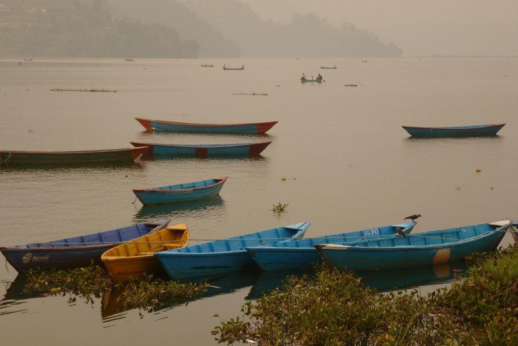 Le couvercle de brume ne se lève pas et nous ne verrons pas les Annapurna...