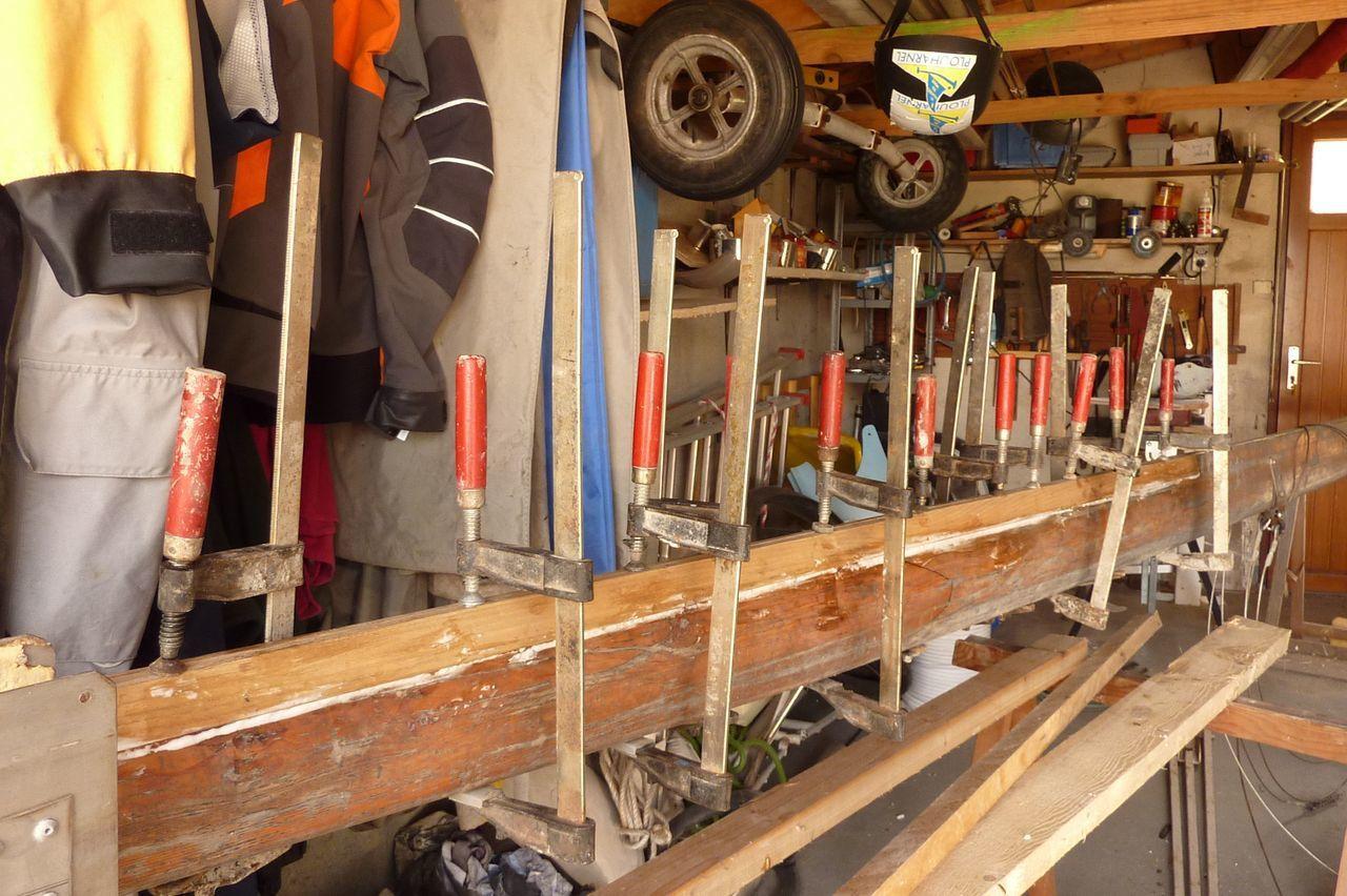Réparation du mât
