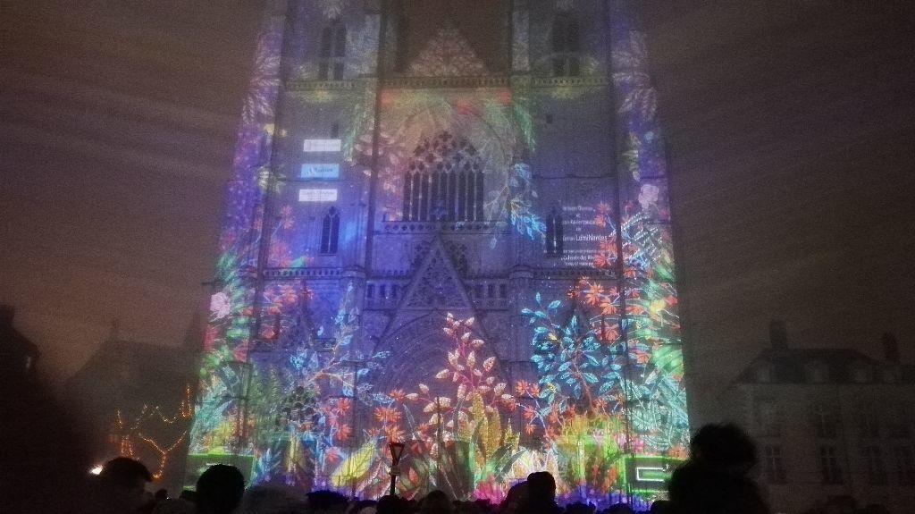 Illuminations à la Cathédrale de Nantes