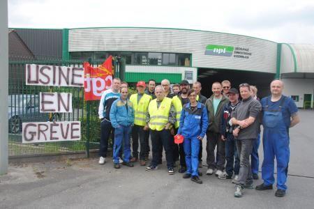 Grève à NPL Gespunsart