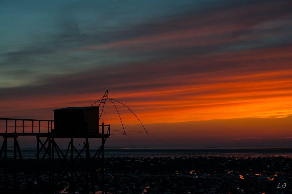 Coucher de soleil sur les pêcheries...