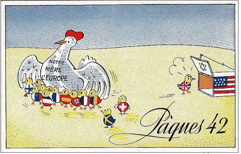 CPA France Européenne Pâques 1942
