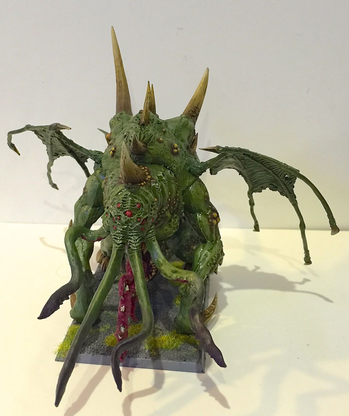 Cthulhu / Nurgle spawn based on Maggoth Lord, finished