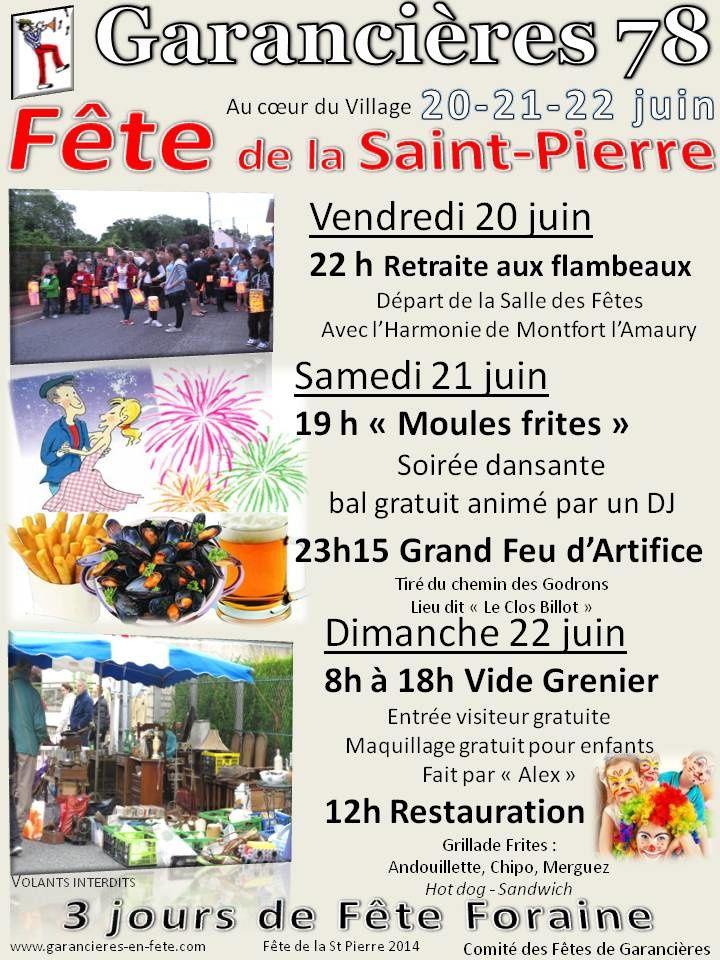 Fête de la St Pierre : 20, 21 et 22 juin 2014