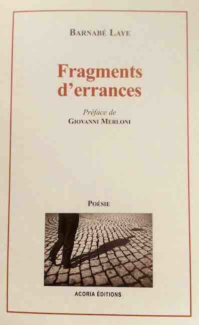 Recension – Barnabé LAYE – Fragments d'errances - par Michel Bénard