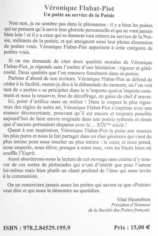 Recension : « Les chemins de lumière » de Véronique Flabat-Piot – Michel Bénard