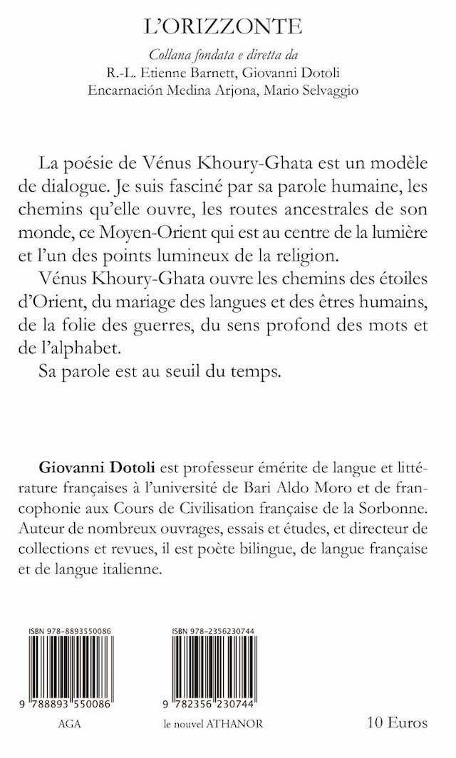 Une nouvelle collection italo-française – L'Orizzonte