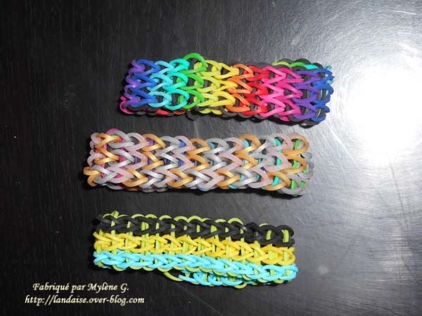 Rainbow loom made by Mylène