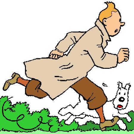 Tintin et Milou Coloriage Tintin et Milou