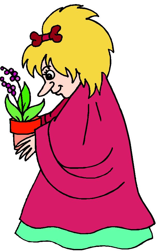 femme et plante