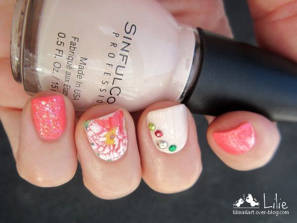 Nail Art Floral ( water decals )