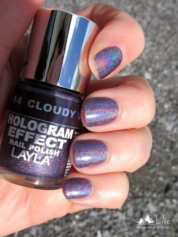 Layla Hologram Effect Cloudy Violet
