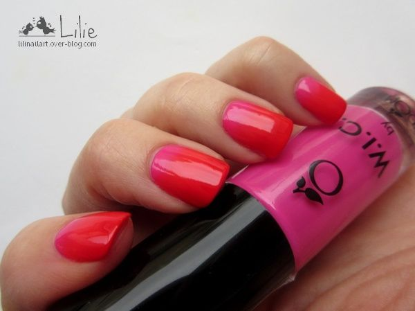 Nail Art Gradient // Liquid Latex Née Jolie