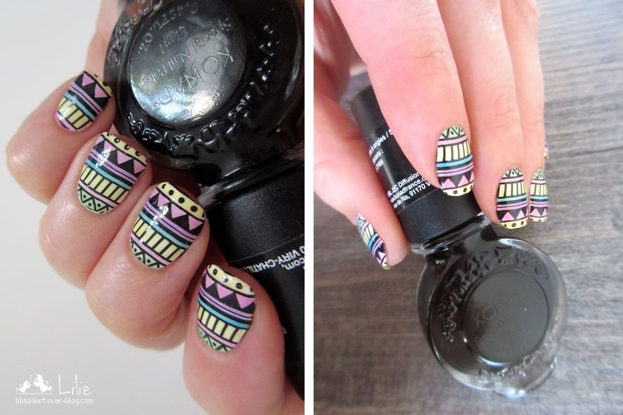 Nail Art Aztec // Topatopa