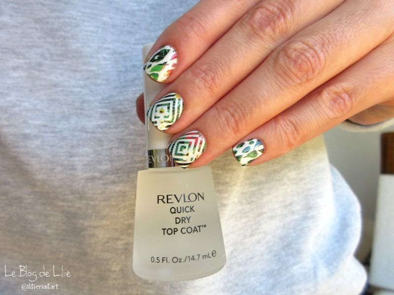 Nail Art Tropical - Water decal BPY32 Née Jolie