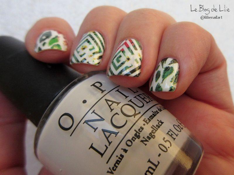 Nail Art Tropical - Water decal BPY32 Née Jolie