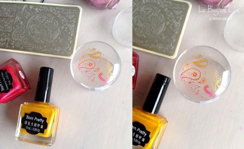Paisley Nail Stamping - NurBesten