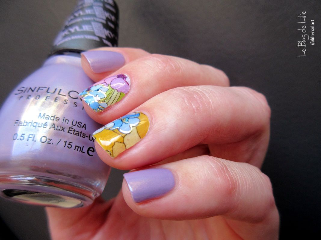 Nail art SinfulColors Kosy &amp&#x3B; Lucky Rose