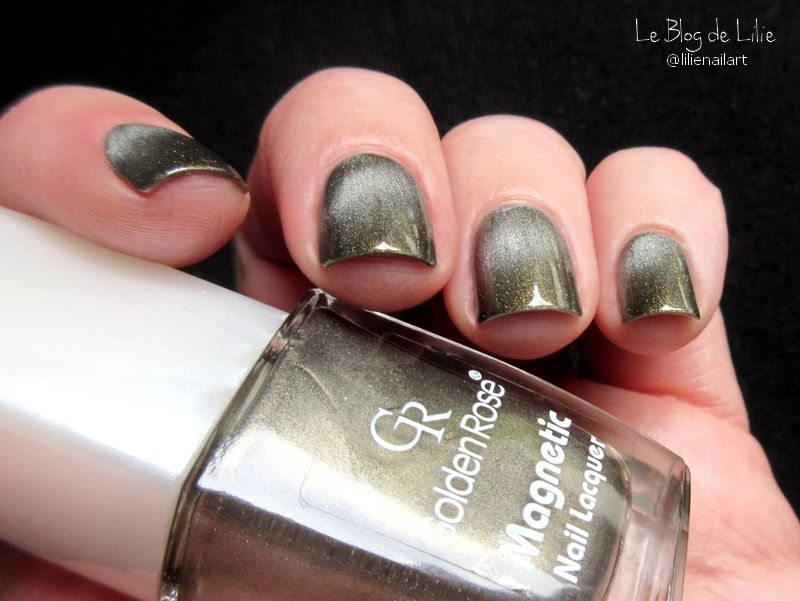 Golden Rose Magnetic Nail Lacquer - Metallic Sage