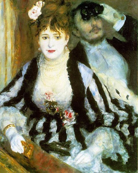La Loge (The Theatre Box)  (1874 ) de Pierre-Auguste Renoir