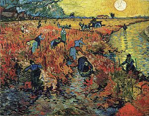 """The Red Vineyards near Arles"" de Vincent van Gogh."
