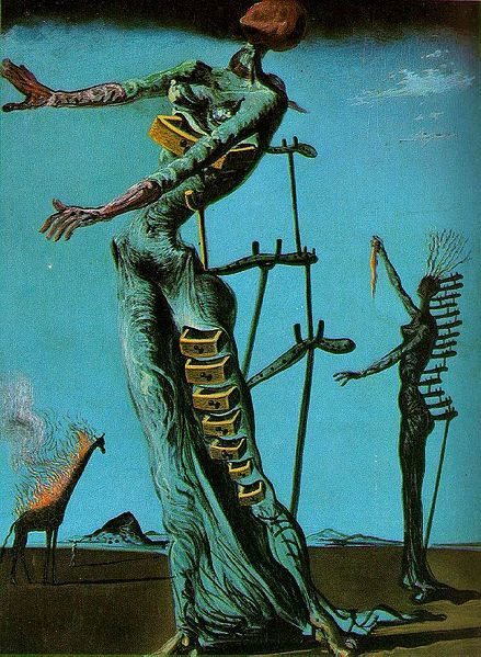 """The Burning Giraffe"" de Salvador Dalí"