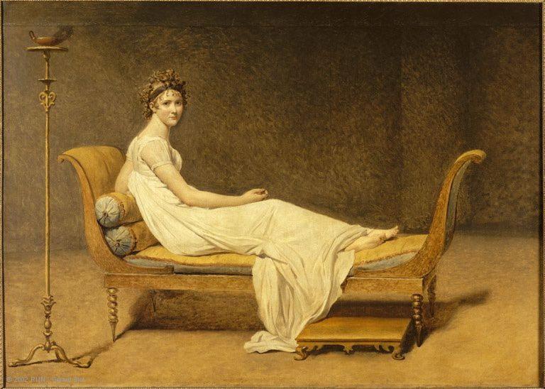 """ Portrait of Madame Récamier (Juliette Récamier ) (1800) de Jacques-Louis David"
