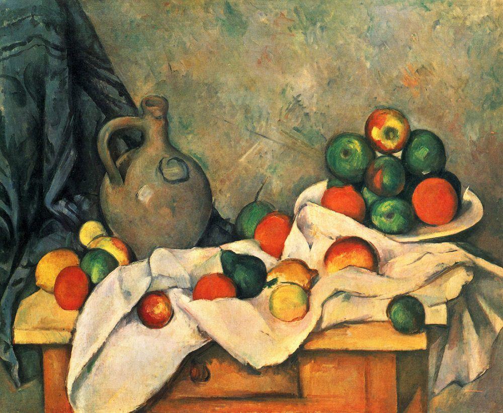 Rideau, Cruchon et Compotier de Paul Cézanne