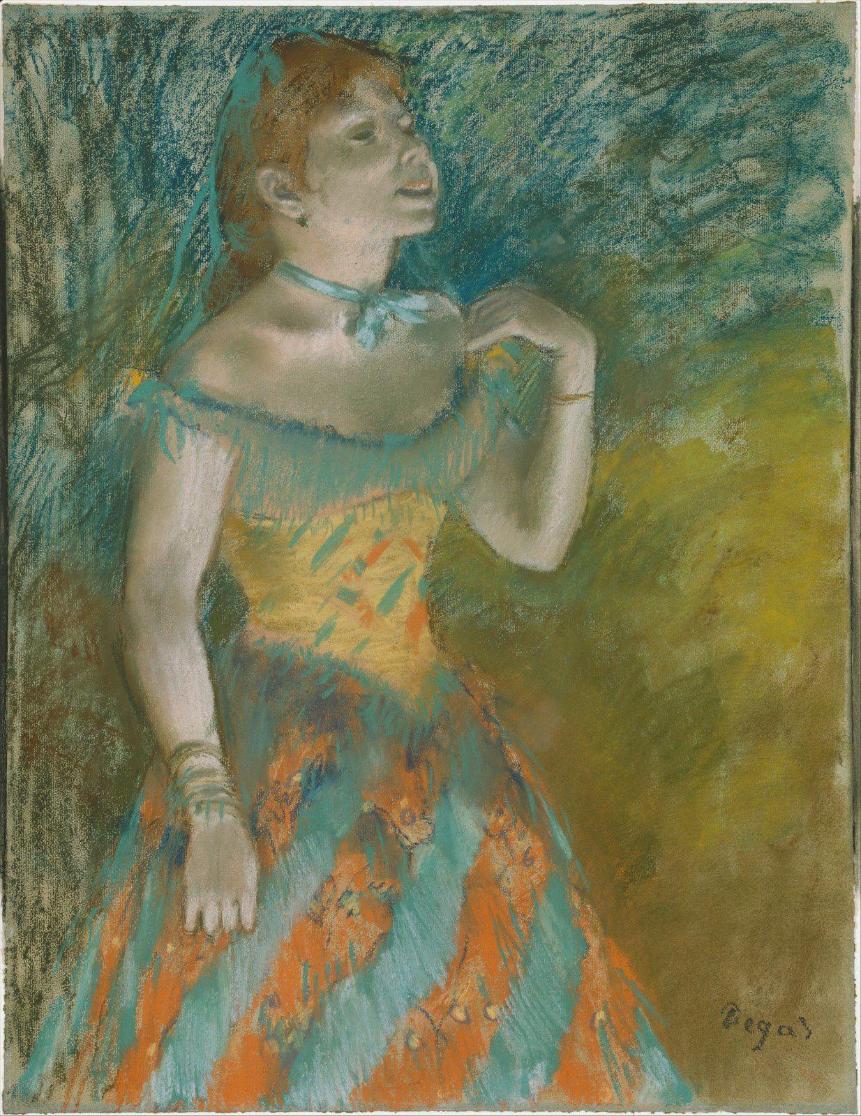 """"""" Singer in Green"""" d'Edgar Degas (1884)"""