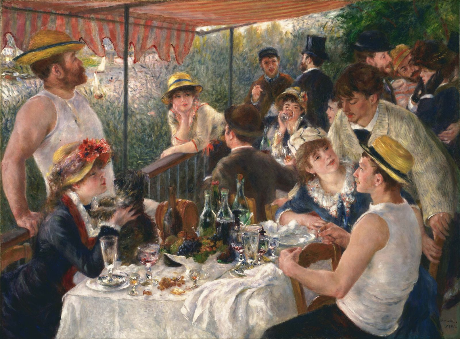 """Luncheon of the Boating Party"" de Pierre- Auguste Renoir ( 1880–1881)"