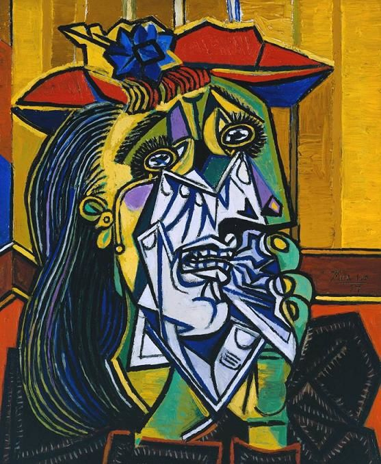 """"""" The Weeping Woman"""" de Pablo Picasso  (1937)"""