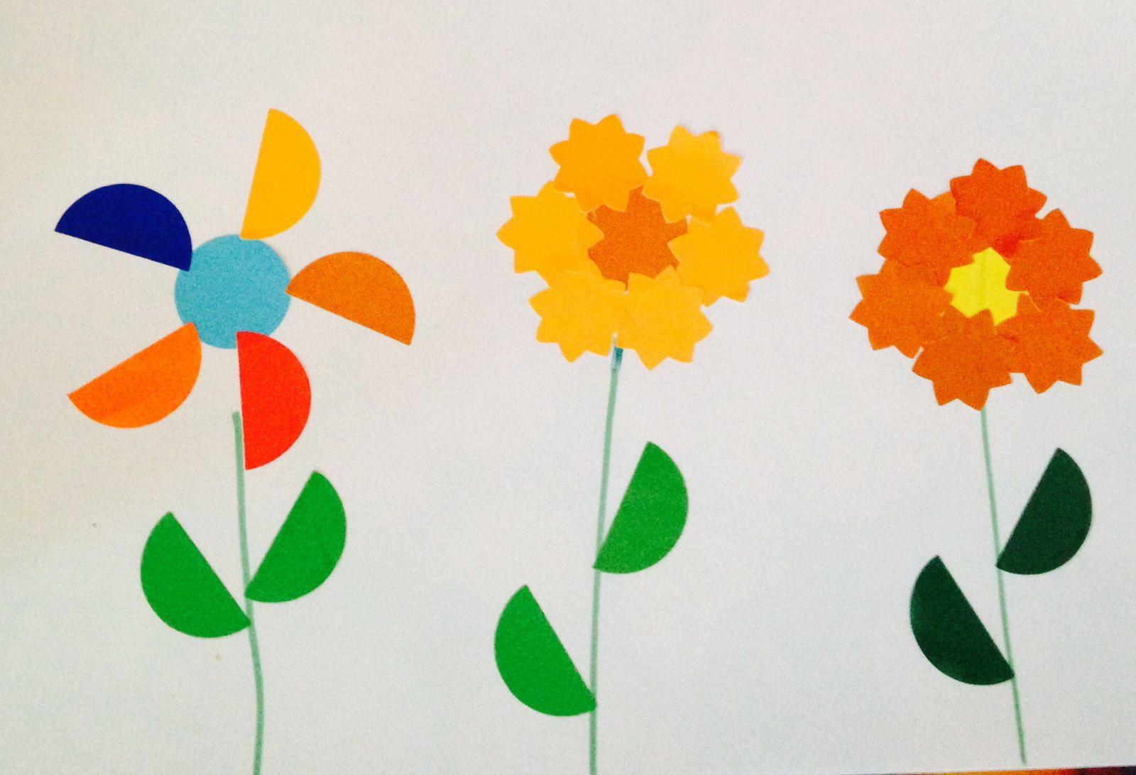 Gommettes En Fleurs (et Fleurs En Gommettes) : C'est Le Printemps (avec Les Enfants De Moyenne