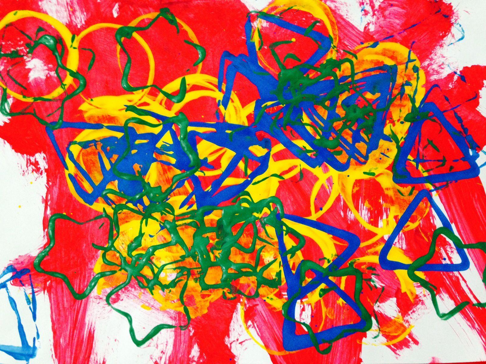 Favori Empreintes géométrique de peinture (avec des enfants de petite  HJ55