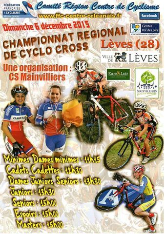 Championnat régional de cyclo-cross à Lèves (28) le 6 décembre