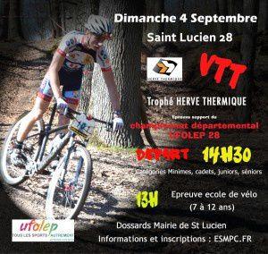 L'épreuve VTT XC de St Lucien annulée