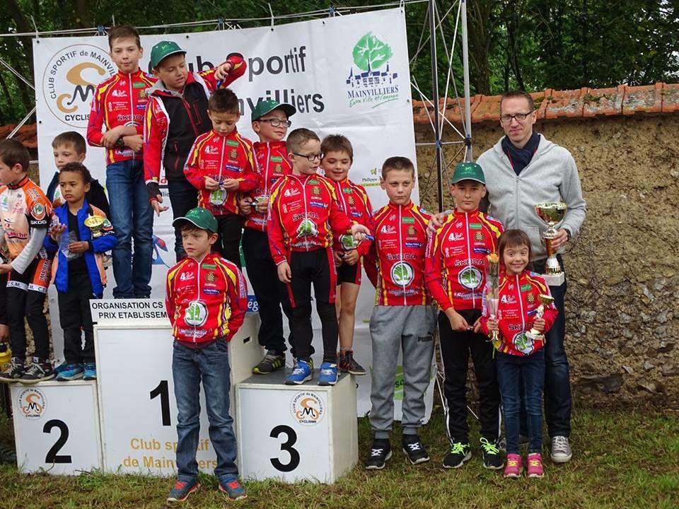 """L'école de cyclisme cette saison avec leur éducateur Christophe Asse totalise 3 prix d'""""quipes, de nombreuses victoires et multiples podiums"""
