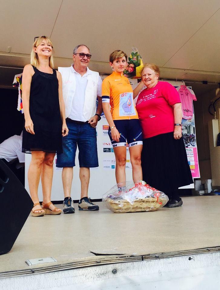 Charlotte Bravard (Futuroscope - VS Chartres) combative au Tour de l'Ardèche